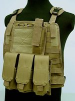 Wholesale Tactical Combat Airsoft Paintball Hunting Shooting Combat Molle Vest Chest Rig Harness W Triple mm Mag Pouch Multicam