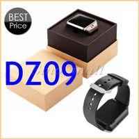 achat en gros de tft portable-1,56 pouces TFT LCD carte Wearable montre Smart Watch DZ09 Bluetooth SIM montre pour Android IOS podomètre Fitness Outdoor Montre