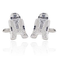 bb jewelry - 3 Styles Star Wars Galactic Empire Robot Model BB Darth Vader Silver Cufflinks Movie Jewelry