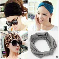 Wholesale 2016 New korean wide soft elastic headbands sports yoga for women adult girls lady head wraps hair band turban accessories tiara