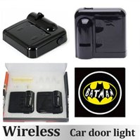 Wholesale 2pcs Wireless Car Door Lights No Drill Type Wireless Welcome Light Led Shadow Projector Lamp Laser Projector Magnet Sensor Best Quality
