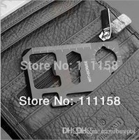 Wholesale 500PCS Stainless Steel Multifunctional Travel Survival Camping Wallet Credit Card Tool Mini Multi Outdoor Pocket Card Tools xx