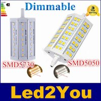 Marque Dimmable R7S LED 10W 15W J78 78mm J118 118mm J135 135mm J189 189mm 85-265V 5050 lampe 5730 Ampoule Remplacer projecteur halogène