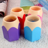 Wholesale Creative Pen Vase Pencil Pot Makeup Brush Holder Stationery Container Desk Tidy Multifunction Pen Holders