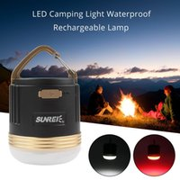 Wholesale SUNREE CC3 XP G R5 W LED Camping Light USB IPX5 Rechargeable Lamp with mAH Battery for Outdoors Camp LEG_728