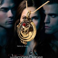 Cheap The Vampire Diaries retro alloy diamond Verbena Valentine Necklace vintage unique Europe and America jewelry for free shipping
