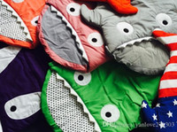 Wholesale shark sleeping bag multi function baby sleeping bags candy color children sleeping blankets sleeping bags A23