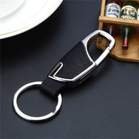 Wholesale Car keychain Creative Men and Ladies Leather Waist Hanging Keychain Metal Keychain