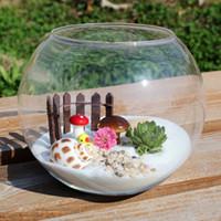 Wholesale glass fist tank plant terrarium Creative round fishbowl moss micro landscape ecology bottle hydroponic flower Succulents