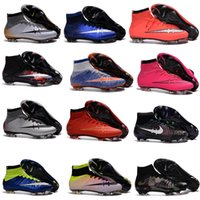 band leather boots - Men Mercurial Superfly FG CR7 Soccer Shoes Children Soccer Cleats Laser original Kids Boys football boots women Girls Football Shoes