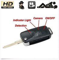 Wholesale 10pcs HD P Mini Car Key camera Chain Micro Camera Camcorder Record Keyring Recorder Motion Detector pocket DV car keys