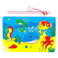 Wholesale Funny Child Magnetic Fishing Game Toy Wood Sea Animals Jigsaw Puzzle Educational puzzles challenge puzzle distributors