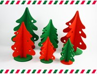Wholesale 3Sizes Christmas Trees table decoration Non woven stereoscopic Xmas tree Ornaments cm