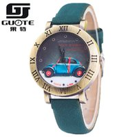 beatles pins - New Vine Watch Women Quartz Watch Fashion Beatles Car Cartoon watches Casual Dress Watches Wristwatches girls boy Clock Gift Relojes