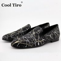 big mens slippers - 2016 New Men s Flats Loafers Dress Shoes Genuine Cow Leather Sequins Mens Slip on Slippers Party Wedding Shoes big size US5 US13