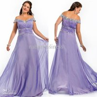 beaded silk chiffon fabric - Fashionable Plus Size Lavender Evening Dress Sexy Prom Dress Ball Gown Chiffon Fabric prom dresses evening plus size Party Gowns