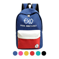 Wholesale 2016 New Arrive Canvas Women s Backpacks Male Bag Casual EXO Backpack Bags Rucksacks Men Student School Bags For Teenagers