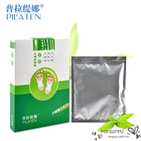 Wholesale PILATEN Pairs Foot Patch Bamboo Vinegar Medicament Detoxification Health Care Beauty Colour Improve Constipation Promote Sleep