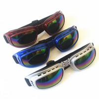 Wholesale Motorcycle Goggles Folding Wind Glasses Frame Mirror Colored lenses Preventing Wind Cross country Outdoor Sports Ski Goggles Dustproof