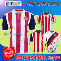 away pink soccer - 2016 Guadalajara SPECIAL COMMEMORATIVE años de Chivas Soccer Jersey A PULIDO O PINEDA Maillot de foot away pink white shirts