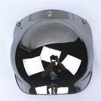 Wholesale UV400 protection tinted harley vintage helmet visor high quality open face motorcycle helmets bubble shield available with mounts frame