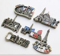 architecture cartoon - The world famous architecture Paris Eiffel Tower model creative D metal fridge magnetic tourist souvenirs as gift