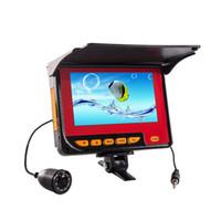 Wholesale 4 LCD HD Monitor Underwater M Fish Finder Ocean Ice Fishing Camera IR LED HD video waterproof wide angel lens nigh vision
