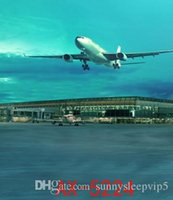 airport photo - Plane Taking Off at Airport Wedding Photo Stdio Backdrops Lighting Vinyl X7ft Backgrounds AX