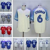Baseball Men Short Top Quality ! 2016 Cheap Toronto Blue Jays Jerseys 6 Marcus Stroman Jersey Authentic Stitched Baseball Jerseys Embroidery Logos