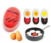 Wholesale 20pcs useful magic color changing Egg Timer Cooking Boil Eggs Kitchen Helper