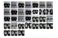 Wholesale NIK Elite Raiders jerseys cheap rugby football jerseys Oakland COOPER MACK WOODSON CARR JACKSON LONG black white