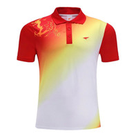 Wholesale Chinese dream camisas tenis de mesa badminton t shirts man badminton jersey mens table tennis shirts sport badminton shirt