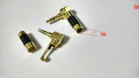 audio degrees - 1pcs Gold plated mm Stereo Audio Right Angle degree Adapter soldering