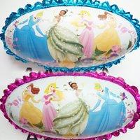 baby belle princess - 5pcs cartoon belle princess Aurora globos Cinderella balloons party supplies birthday gift baby girl Mermaid baloon