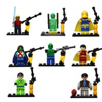 Wholesale New Coming D856 Killer Croc Miss Martian Riddler Dr Fate Hyperion Super Heroes Minifigures Building Block Bricks action Figure Toys
