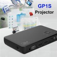 achat en gros de rapport numérique-GP1S Mini Projecteur DLP Portable vidéo Full HD 1080p 600: 1 Rapport de contraste Dual USB AV MHL SD Entrée numérique Affaires Education Home Cinéma