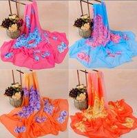 amazon sizes - New Arrival Fashion Design Silk Scarf For Women Hot On Amazon CM Long Size Beachwear Wrap Mix Colors