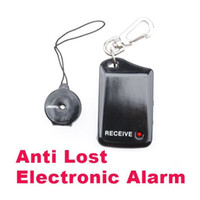 Wholesale New Arrival Wireless Anti Lost Alarm Reminder Personal Security Alarm Black and White For Kids Luggage Pets and Elderly
