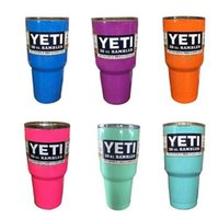 Wholesale colourful yeti Bilayer Stainless Steel Insulation Cup OZ YETI Cups Cars Beer Mug Large Capacity Mug Tumblerful