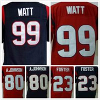 arian foster texans - Texans Rugby Jerseys J J Watt Andre Johnson Arian Foster Men s Game Football Jerseys Red Blue Welcome Mix Orders size