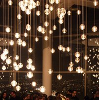 bedroom bar club - Tantop Glass Globel Tom Dixon G4 LED lights Droplight Pendant lights Ceiling light for Restaurant stair bar club hotel bar cafes TT2015012