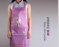 Wholesale Han edition cartoon rabbit hanging neck apron Fashion cute no cuff bag apron Anti fouling prevent oil apron