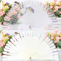 Wholesale 2016 New Display Nail Art Fan Wheel Polish Practice Color Pop Tip Stick