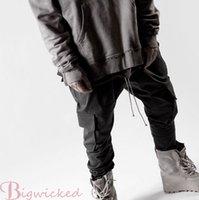 big capri pants - 2016 streetwear fear of god chinos joggers pants hiphop clothing designer side zipper men s capri cargo big pocket overalls