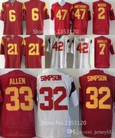 Wholesale USC Trojans College Su a Cravens Cody Kessler Marcus Allen O J Simpson Woods Lott Troy Polamalu Clay Matthews Jersey size small x