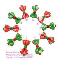 amazing hair bows - 500pcs Amazing Christmas Hair Bows For Kids Girls
