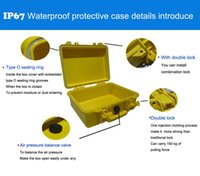 Wholesale trolley waterproof tool case equipment case Photographic camera case with pre cut foam External dimensions mm