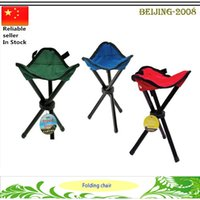 folding camping chair - Outdoor Metal foldable Hiking Fishing Lawn Portable Pocket Folding tripod Chair With backrest Fishing camping tool