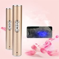 Wholesale 2 in USB Rechargeable nm Ultraviolet UV Fluorescent Agents Detecting Lamp Moon Shape LED Flashlight Torch Light