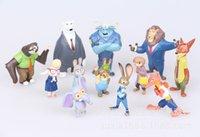 Wholesale The Latest Movie Zootopia set Cartoon Utopia Action Figure Movie Pvc Mini Models cm Nick Fox Judy Rabbit Dolls